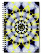 Black, White And Yellow Sunflower Spiral Notebook