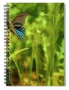 Black Swallowtail No. 2 Painterly Spiral Notebook