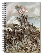 Black Troops Of The Fifty Fourth Massachusetts Regiment During The Assault Of Fort Wagner Spiral Notebook