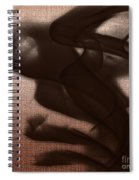 Black Vector Apparition Spiral Notebook