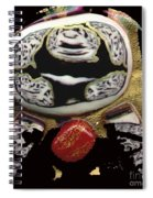 Black White And A Little Spice Spiral Notebook
