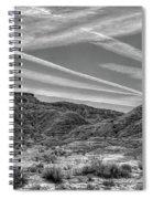 Black White Chem Trails Sky Overton Nevada  Spiral Notebook