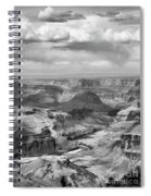 Black White Filter Grand Canyon  Spiral Notebook
