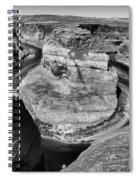 Black White Horseshoe Bend Arizona  Spiral Notebook