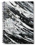 Black White Modern Art Spiral Notebook