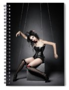 Black Widow Marionette Puppet  Spiral Notebook