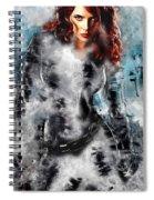 Black Widow Scarlett Johansson Spiral Notebook