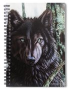 Black Wolf Spiral Notebook
