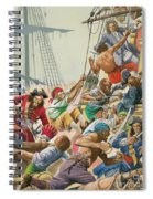 Blackbeard And His Pirates Attack Spiral Notebook