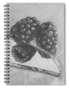 Blackberries On Glass Spiral Notebook