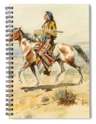 Blackfoot Indian. A Crow Scout Spiral Notebook