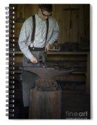 Blacksmith At Work Spiral Notebook