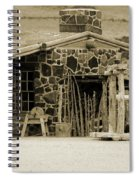 Blacksmith Shop 1867 Cove Creek Fort Utah Photograph In Sepia Spiral Notebook