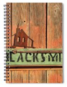 Blacksmith Sign Spiral Notebook