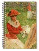Blanche Hoschede Painting Spiral Notebook