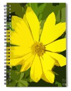Blaze Of Yellow Spiral Notebook