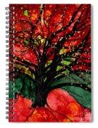 Blazing Red Orange Autumn Tree Spiral Notebook