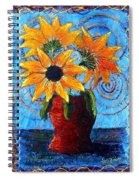 Blazing Sunflowers Spiral Notebook