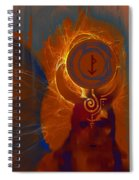Blazzing Wisdom Through Odins Essence Spiral Notebook