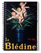 Bledine- Baby - Flower Pot - Old Poster - Vintage - Wall Art - Art Print - Porridge  Spiral Notebook