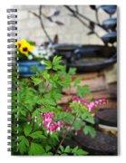 Bleeding Heart And Fountain Spiral Notebook