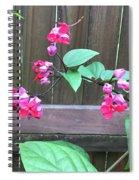 Bleeding Heart Clerodendrum Spiral Notebook