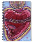 Bleeding Sacred Heart Spiral Notebook