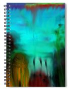 Lands Under The Sea - Abstract Landscape Spiral Notebook