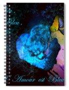Bleu Bleu L Amour Est Bleu Spiral Notebook