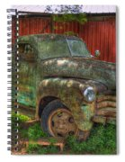Blind In One Eye 1947 Chevy Flatbed Truck Art Spiral Notebook