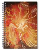 Blissful Fire Angels Spiral Notebook