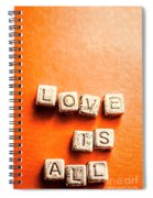 Block Quotes On Love Is All  Spiral Notebook
