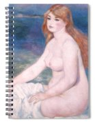Blonde Bather II Spiral Notebook