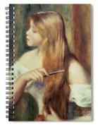 Blonde Girl Combing Her Hair Spiral Notebook