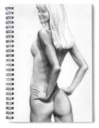 Blonde Nude2 Spiral Notebook