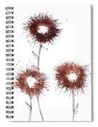 Blood Flower Spiral Notebook