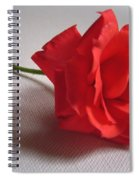 Blood Red Rose Spiral Notebook