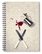 Bloody Dining Table Spiral Notebook