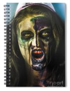 Bloody Zombie Nurse Screaming Out In Insanity Spiral Notebook