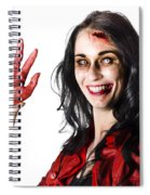 Bloody Zombie Woman With Severed Hand Spiral Notebook