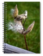 Blooming By The Fence Spiral Notebook