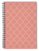 Blooming Dahlia Quatrefoil Spiral Notebook