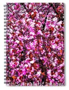 Blooming Pink Spiral Notebook