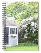 Blooming Tree Next To Shed Spiral Notebook