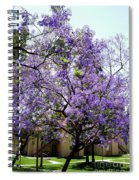 Blooming Tree With Purple Flowers Spiral Notebook