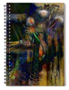 Blooms And Coils Spiral Notebook