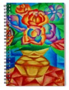 Blooms In Blue Spiral Notebook