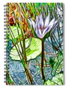Blossom Lotus Flower In Pond Spiral Notebook
