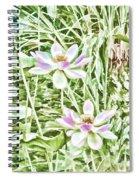 Blossom Pink Lotus Flower Spiral Notebook