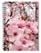 Blossoms Art Spring Pink Tree Blossom Floral Baslee Troutman Spiral Notebook